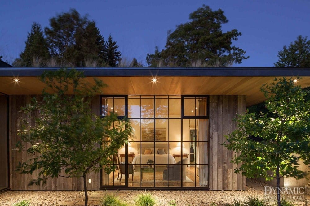 Wood Curtain Wall in Rustic Home