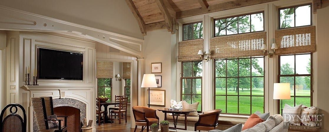 living room double hung windows