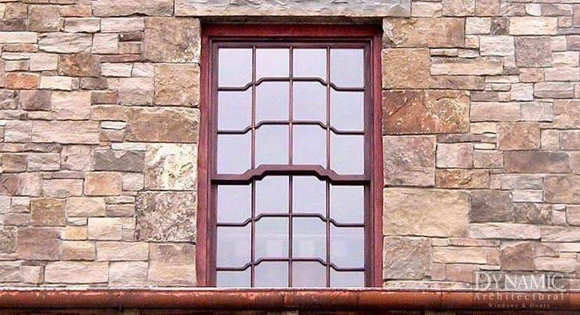 Unique wood double hung window