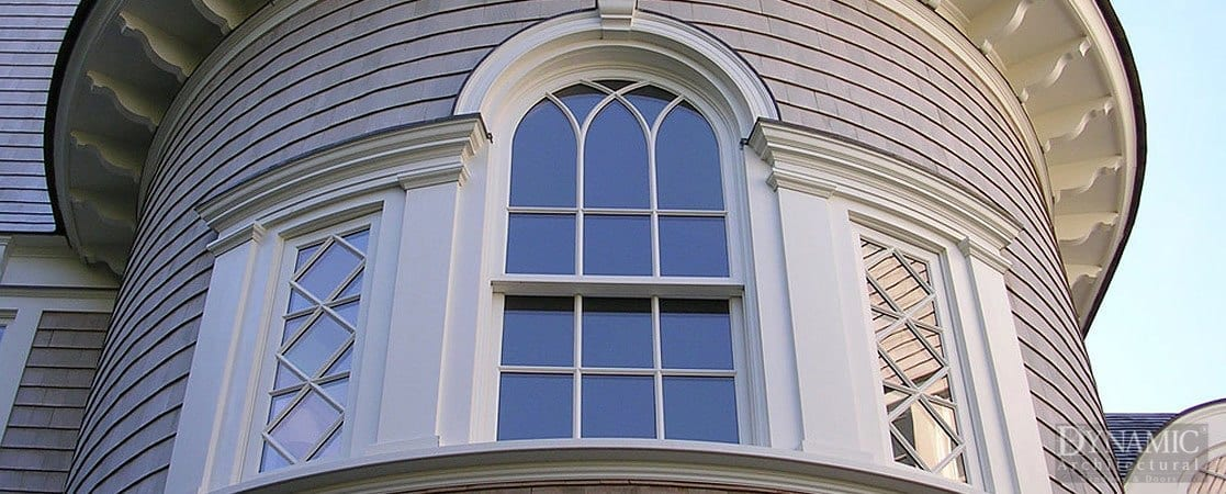 Traditional Palladian Double Hung Window