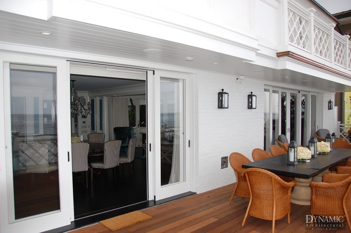 Waterfront sliding doors