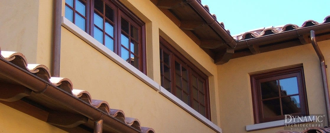 Wood casement windows
