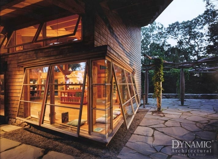 oversized wood awning windows