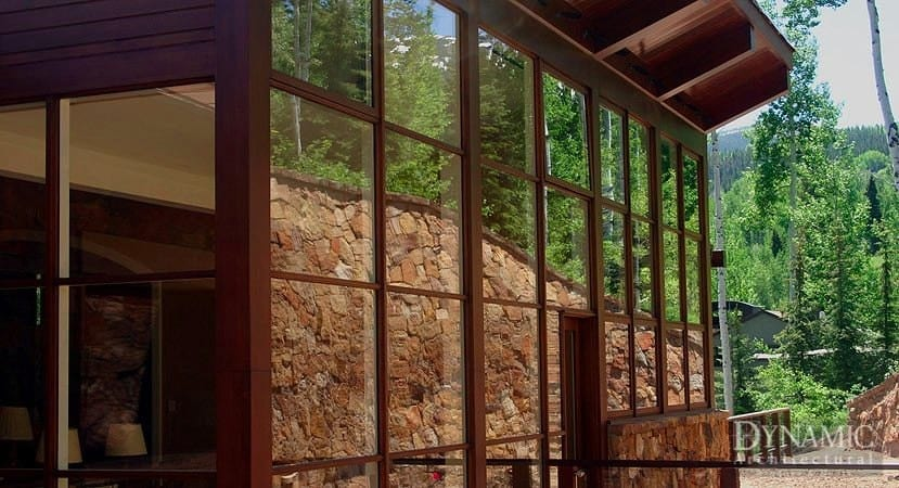 Wood Curtain Wall Storefront Dynamic Architectural