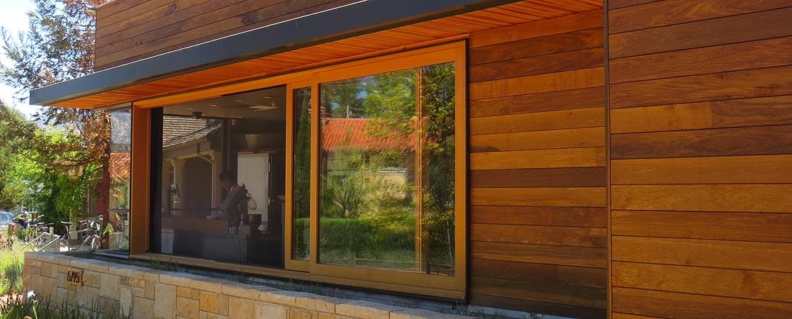 Commercial Wood Sliding Window
