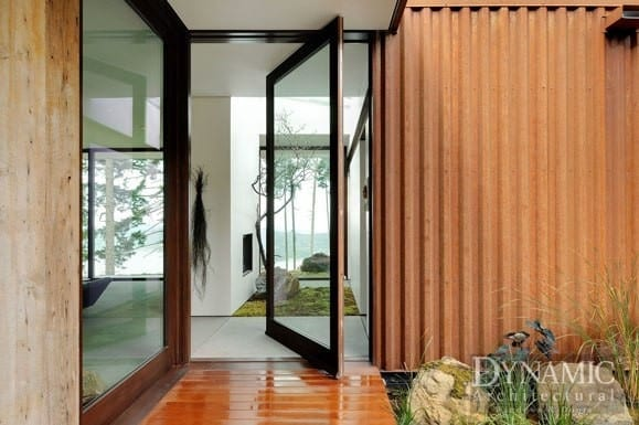 Wood Pivot Door Dynamic Architectural