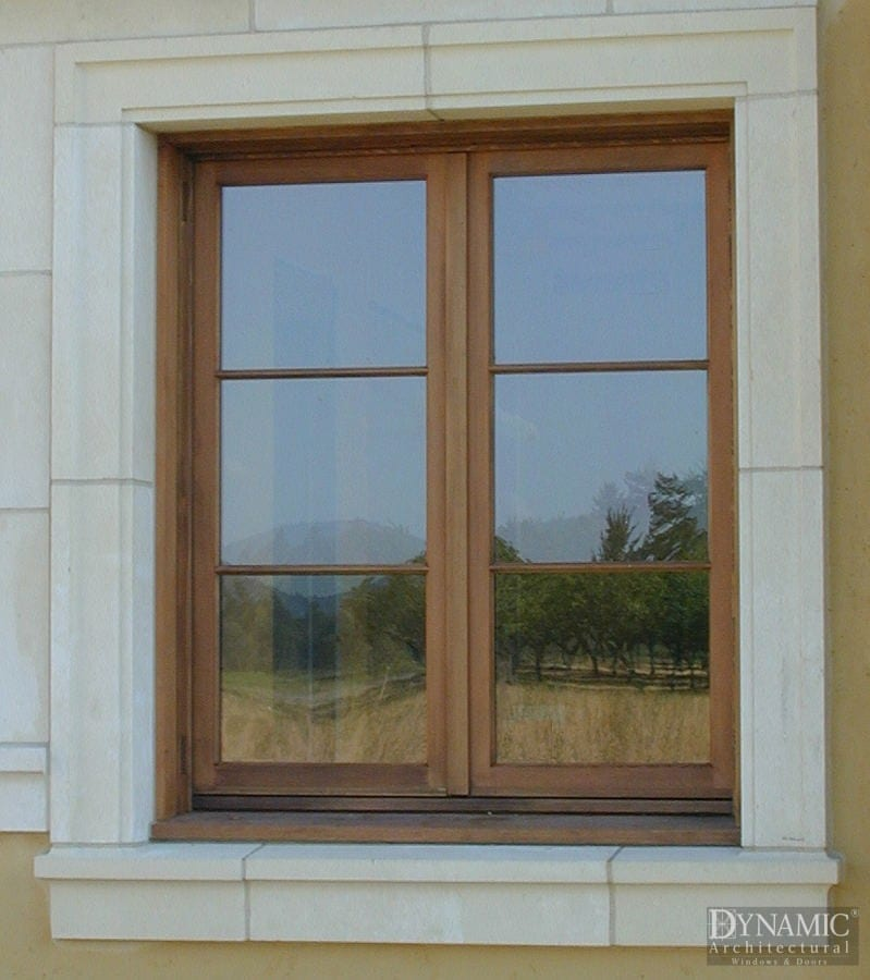 wood french casement windows