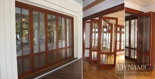 Exterior Wood Bi Fold Doors Dynamic Architectural