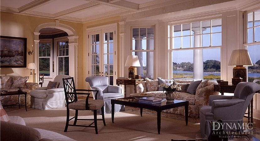 Custom double hung wood windows