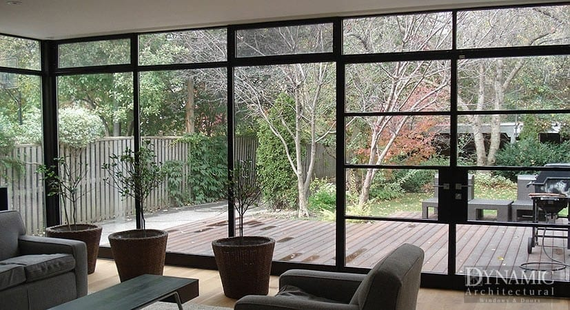 Steel Storefront Window and Modern French Doors
