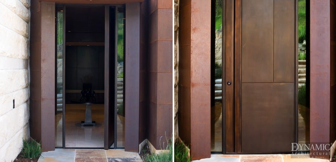 Clad Pivot Door Shadow3