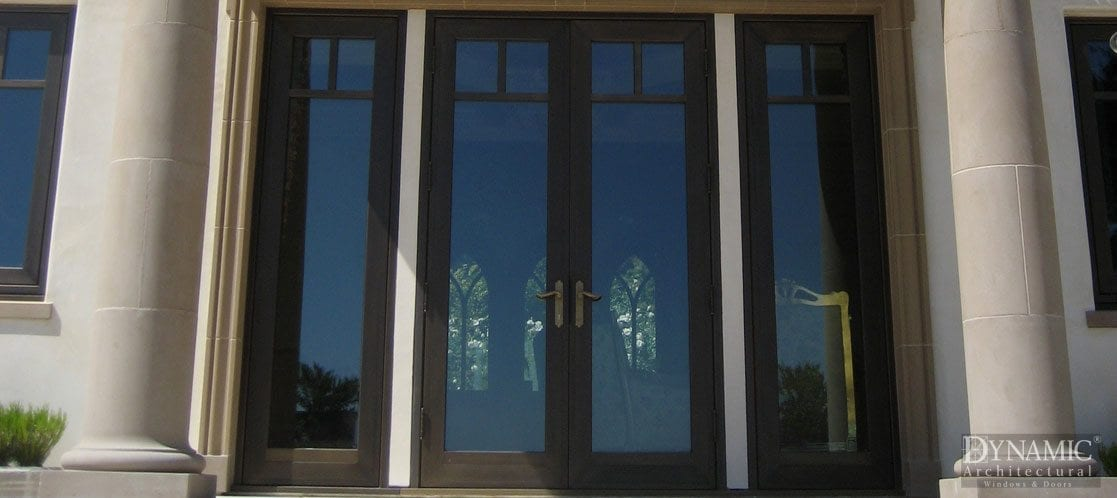 Bronze Clad French Hinged Doors