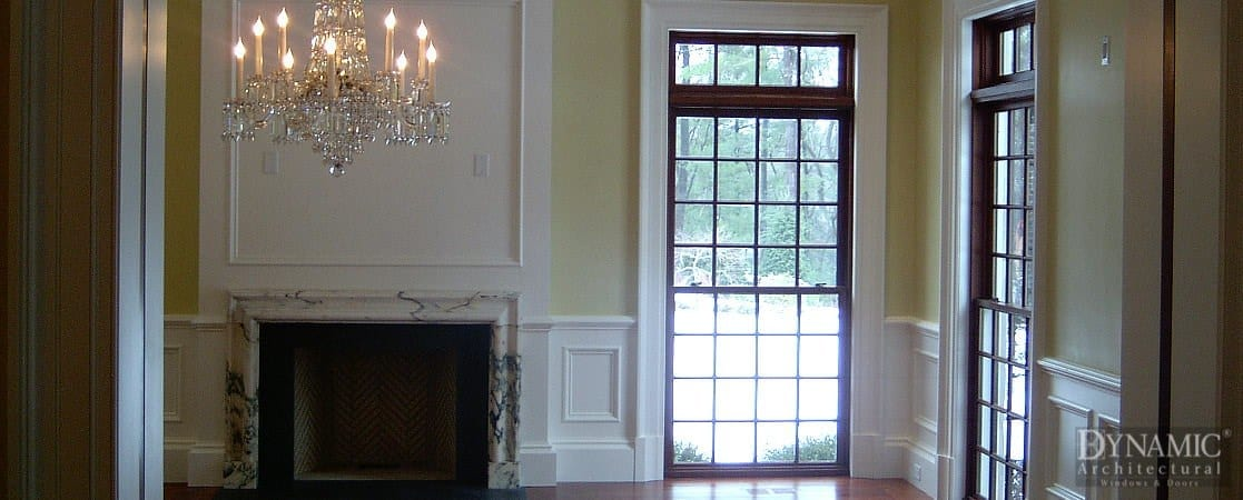 Bronze Clad Double Hung Windows