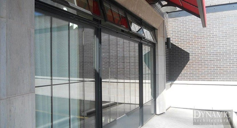 Steel Storefront Window with Bottom Panel