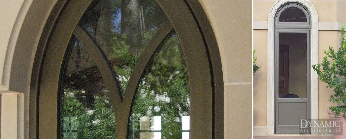 Bronze Clad Shaped Windows