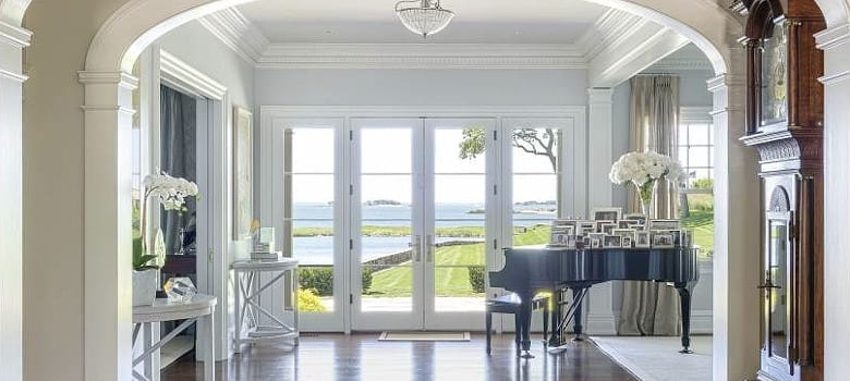 Traditional French Doors in drawing room