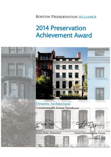 Boston Preservation Award