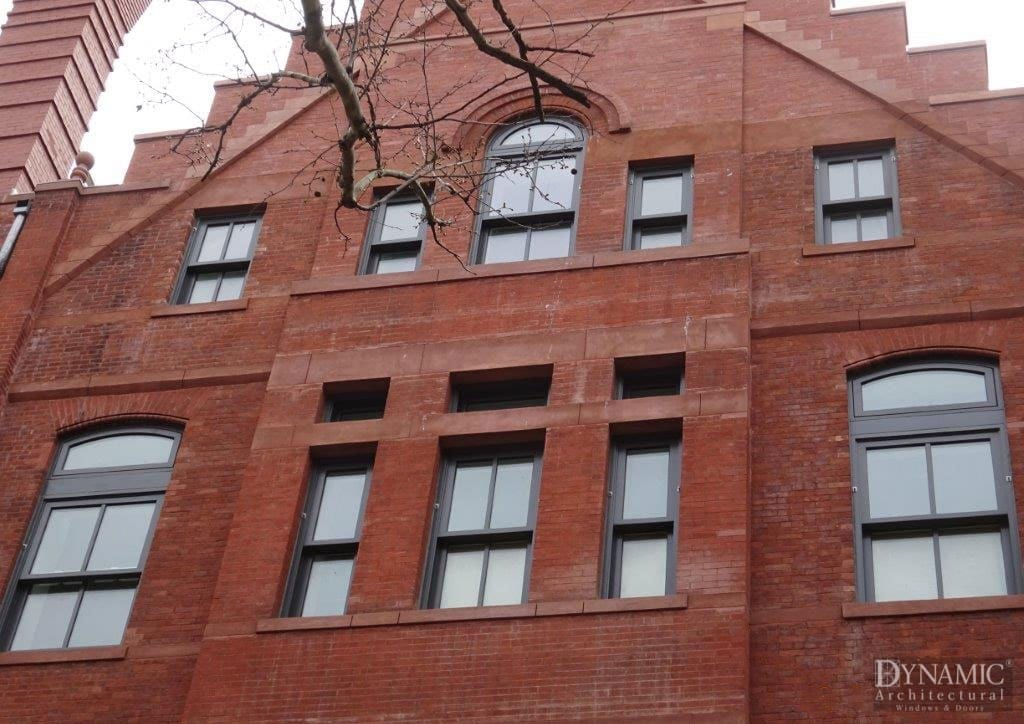 Aluminum Clad Double Hung Windows in Historical Building
