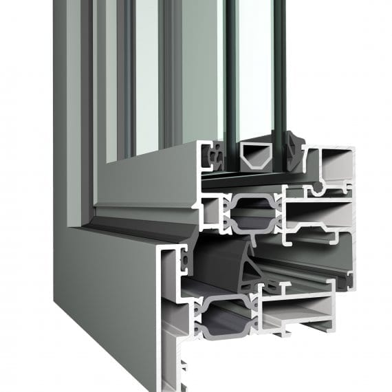 Flat CL38 Reynaers Aluminum Door Profile