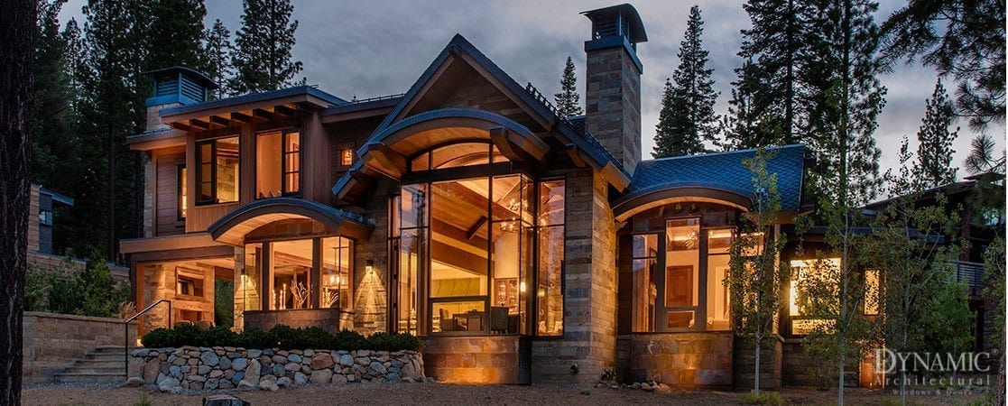 Lake tahoe home blends multiple styles dynamic architectural for Tahoe architects