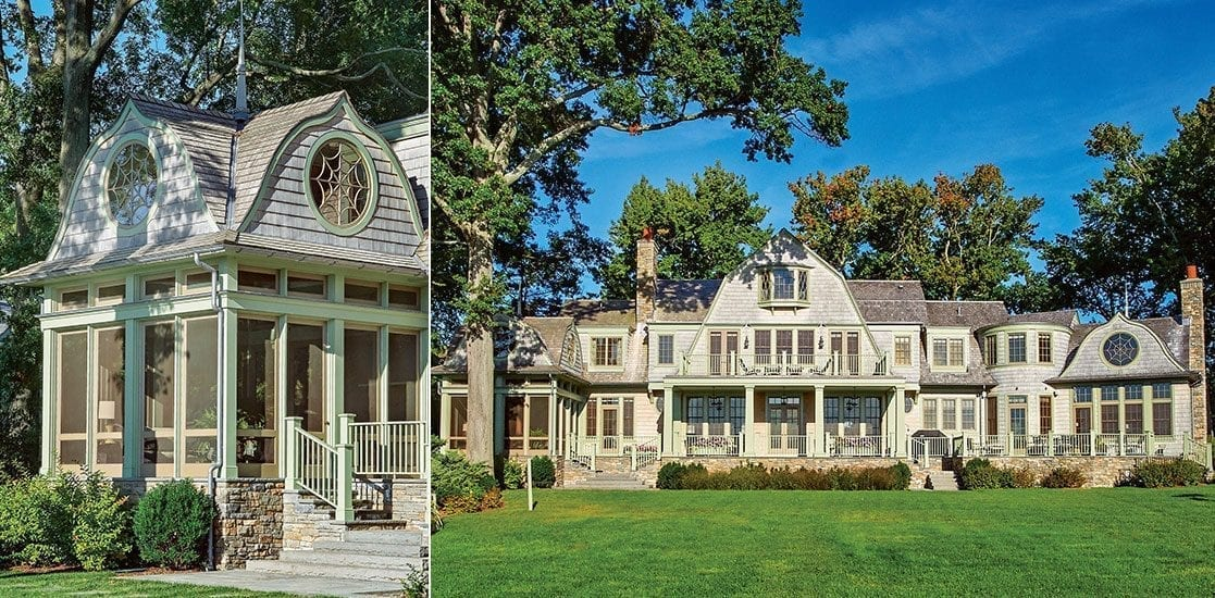 Colonial shingle style home