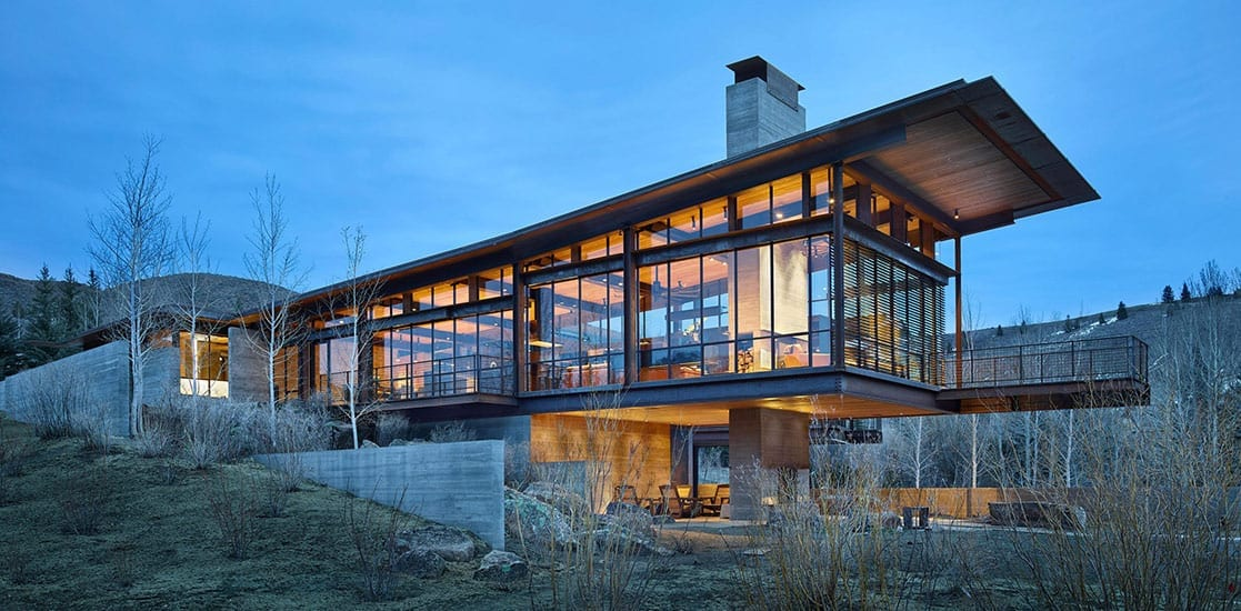 modern idaho rural home by Olson Kundig