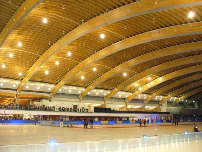 Vancouver's Olympic Skating Oval: another impressive example of a contemporary wood structure with CLT beams.