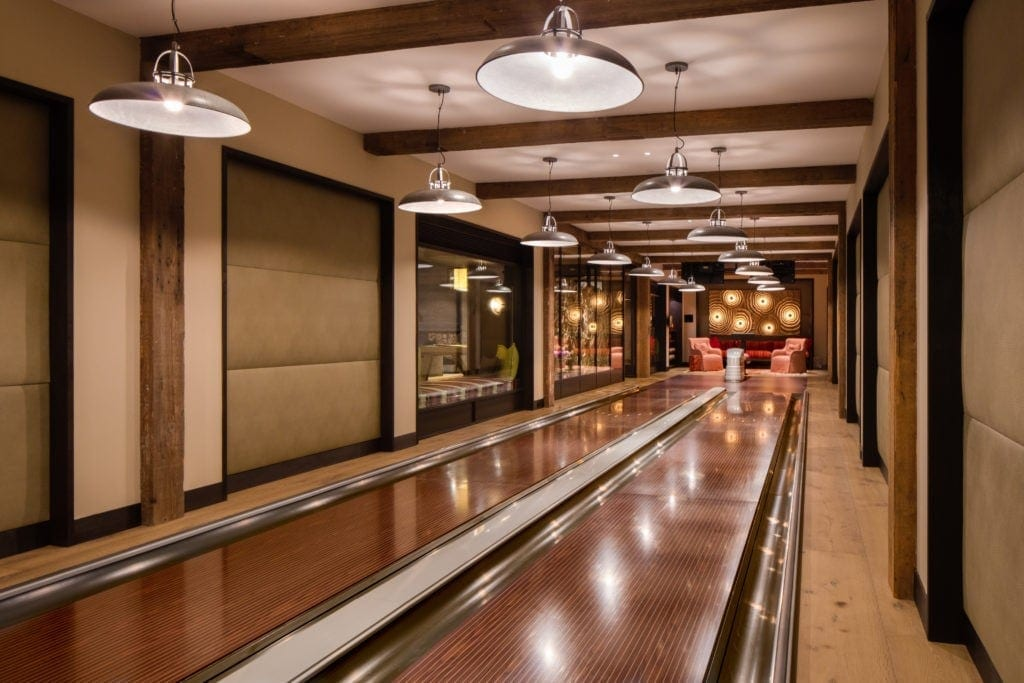 Custom Bowling Alley in Home